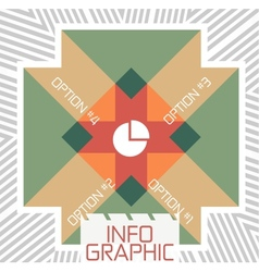 Geometric infographic retro banner vector