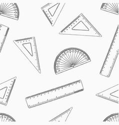 Geometry set for mathematics seamless pattern vector