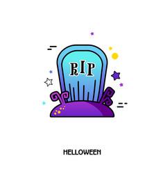 Grave icon halloween sticker vector