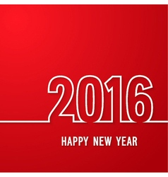 Happy new year 2016 paper postcard vector
