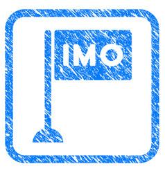 Imo flag framed grunge icon vector