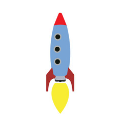 Isolated rocket toy vector