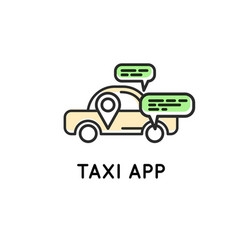 Mobile app for ordering taxi simple icon vector