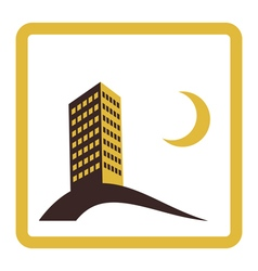 night city icon design vector image