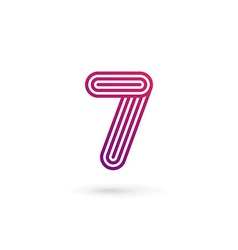 Number 7 logo icon design template elements vector