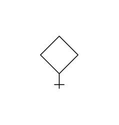 Pallas line icon vector