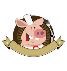 Pig palace banner vector
