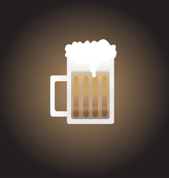 Root beer mug vector