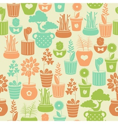 Seamless vintage pattern with flowers vector image vector image