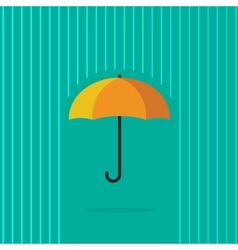 Umbrella in abstract line rain vector image