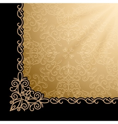 Vintage gold corner background vector