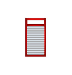 Wooden washboard in red and silver design vector
