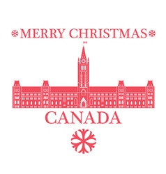 Greeting card canada vector