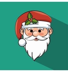 beautiful face santa claus icon graphic vector image