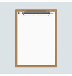 Realistic clipboard with paper and pencils vector