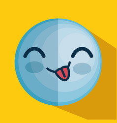 Face emoticon character icon vector