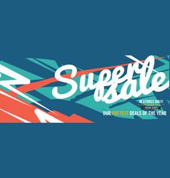 Super sale hottest deal promotion sale banner vector