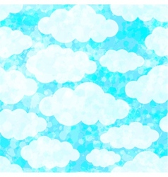 Seamless pattern with clouds  eps 10 vector
