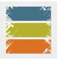 Grunge banner template vector