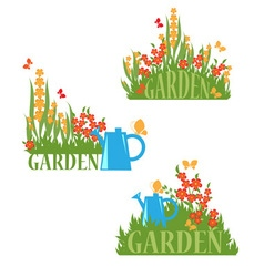 Blooming garden vector