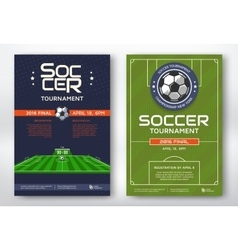 Soccer tournament posters vector image