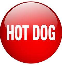 Hot dog red round gel isolated push button vector
