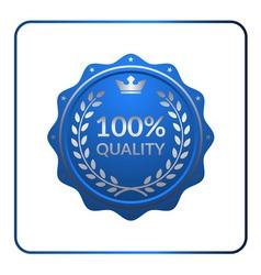 Seal award blue icon medal vector