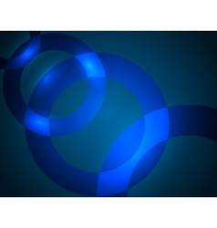 Blue abstract background with brightening glowing vector