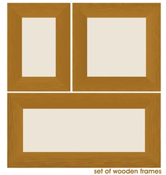 wood frame set vector image