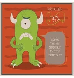 Happy halloween poster with vector