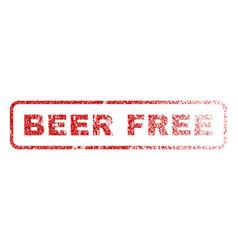 Beer free rubber stamp vector