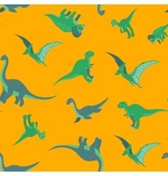 Cartoon dinosaurs pattern vector