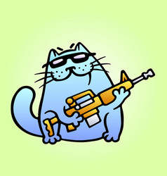 cat the mercenary professional will carry out the vector image vector image