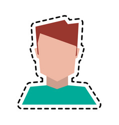 Faceless man portrait icon image vector