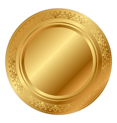 Gold tray vector