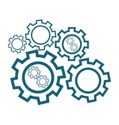 Group of cog wheels vector image
