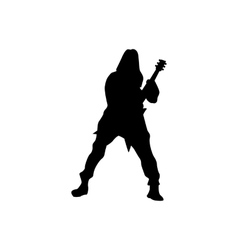 Guitarist silhouette black vector image vector image