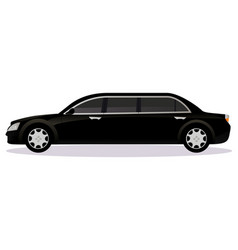 Limousine car body type vector