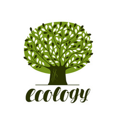 nature ecology forest logo or label abstract vector image vector image