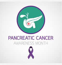 pancreatic cancer awareness month icon design vector image