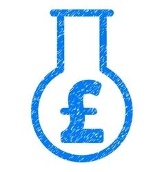 Pound financial alchemy grainy texture icon vector
