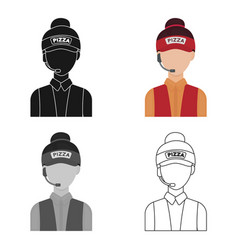 saleswoman icon in cartoon style isolated on white vector image vector image