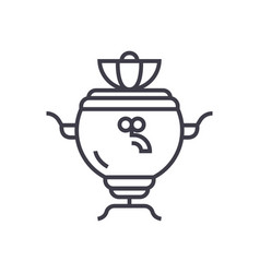samovar line icon sign on vector image vector image