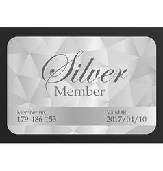 Silver member card vector