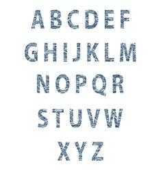 Sketch textured font vector
