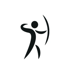 Sports icon of archery monochrome vector image