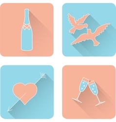 Symbol set for Valentines Day vector image