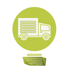 Transport truck delivery pictogram vector