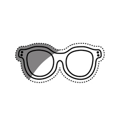 Vintage fashion glasses vector image