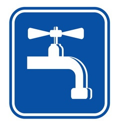 Water - plumber sign vector image